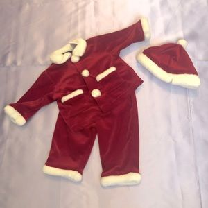 Other - Baby Santa Christmas Outfit Hat Coat Pants Set